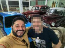 Ostentando riqueza, Hélio dos Terrenos exibe carros luxuosos em festa na Serra