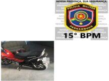 PM apreende moto com escapamento barulhento no bairro do Santo Antônio