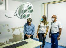Gestão Gilvandro Estrela vai reabrir bloco cirúrgico do HJAL para cirurgias eletivas e partos cesáreas programado. Prefeito acompanha andamento das obras