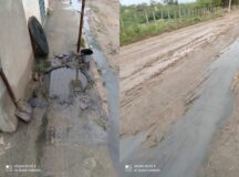 Moradores do loteamento Marcos Leite denunciam esgoto obstruído após obras de saneamento da Compesa