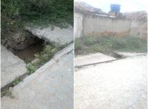 Galeria de esgoto sem tampa coloca em risco segurança de pedestres no bairro do Pontilhão