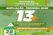Adolescentes de 13 anos, sem comorbidades, podem se vacinar em Belo Jardim