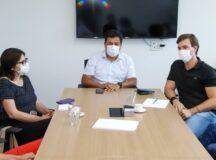 Miguel Coelho reúne-se com Mendonça e Priscila para organizar lançamento da pré-candidatura do Governo de Pernambuco