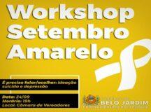 """Prefeitura de Belo Jardim abre inscrições para workshop sobre """"Setembro Amarelo"""" voltado para profissionais de saúde"""