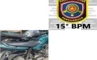 Motociclista é detido em Belo Jardim com moto de leilão sem placa