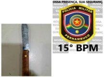 Homem agride fisicamente e ameaça esposa com faca em Belo Jardim