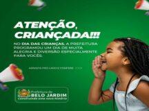 Prefeitura de Belo Jardim realiza ação social em alusão ao Dia das Crianças