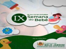 Belo Jardim promove, de 18 a 22 de outubro, a IX Semana do Bebê