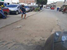 Compesa: Buraco na avenida Coronel João Leite causa transtornos a motoristas