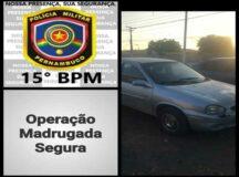 Carro furtado em Caruaru foi localizado às margens da PE-166 em Serra do Vento